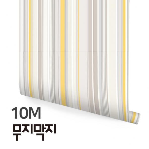 [무지막지] 풀바른 롤실크 벽지 10M / 멀티스트라이프 그레이 / MT10002