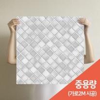 [무지막지] 프리미엄 조각벽지(1롤18조각-가로2M벽 시공가능)/조각 타일그레이