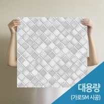[무지막지] 프리미엄 조각벽지(1롤39조각-가로5M벽 시공가능)/조각 타일그레이
