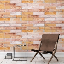 [무지막지]워터풀 조각벽지 스톤베를린레드 60장조각 (53cmx34cmx60장)