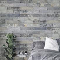 [무지막지]워터풀 조각벽지 스톤블루그레이 60장조각 (53cmx34cmx60장)