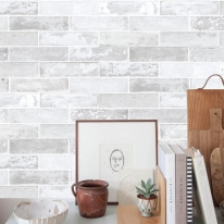 [무지막지]워터풀 조각벽지 스톤 라이트그레이 01장조각 (53cmx34cmx01장)
