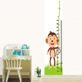 [유니크 만능스티커 키재기포인트벽지] 키재기동물농장6원숭이 포인트시트 SS24-810 (가로53cmx세로2.4m)