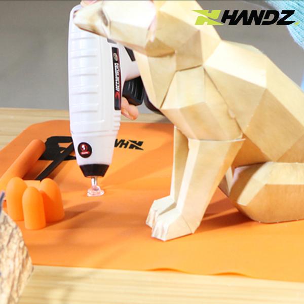 [문고리단독] HANDZ 핸즈 충전식 무선글루건세트 + 헬퍼키트(글루건 작업보조도구)