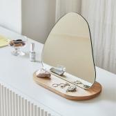 토피넛 원목 스탠드 거울 탁상 화장대 테이블 인테리어