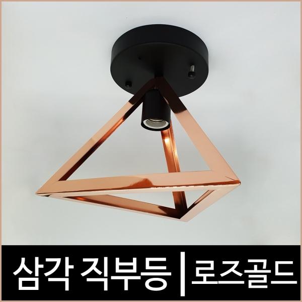 [키고조명]삼각 직부등 로즈골드 캐닝 LED조명 현관등
