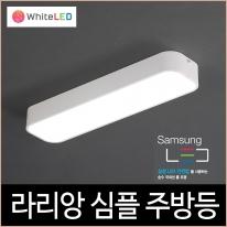 라리앙 심플 LED 30W 주방등 주광색 주백색 조명