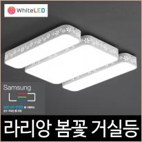 라리앙 봄꽃 LED 115W 거실등 주광색 주백색 거실4등