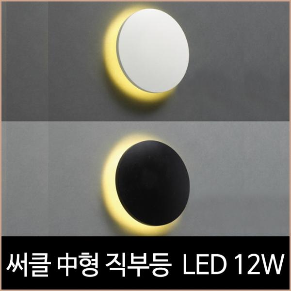 써클 직부 방수등 LED 12w (블랙,화이트)