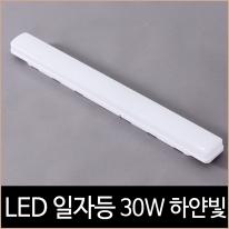 LED 일자등 30W 주광색(하얀빛) 형광등 대용 주방등