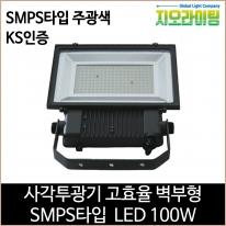 지오라이팅 사각투광기 벽부형 SMPS LED 100W 주광색