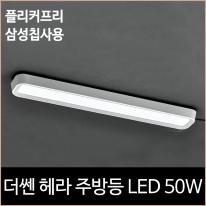 더쎈 헤라 주방등 2등 LED 50w 주광색 플리커프리