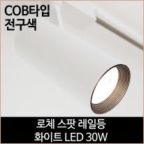 로체 스팟 레일등 화이트 COB타입 LED 30w 전구색