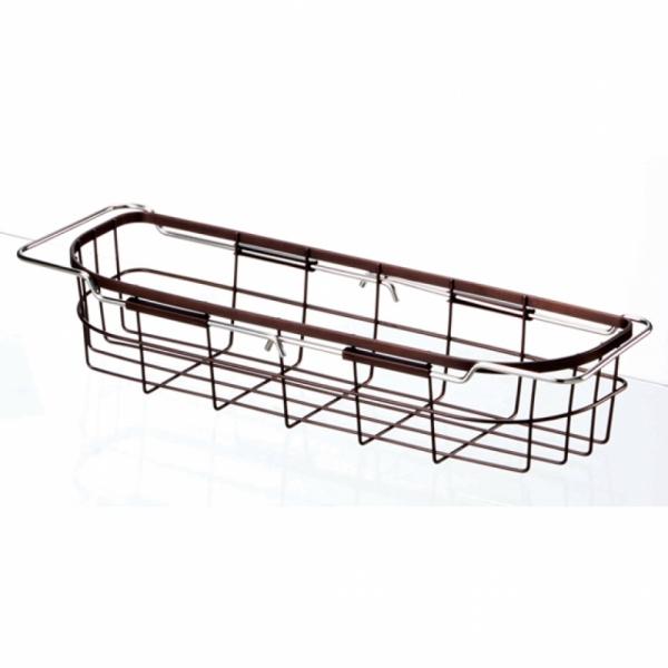 일본수입주방용품 슬라이딩 길이조절 싱크대 바스켓 물빠짐식기건조대 FV06