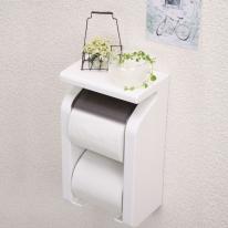 일본생활용품 선반형 2단 욕실 화장실 휴지걸이 더블화장지걸이