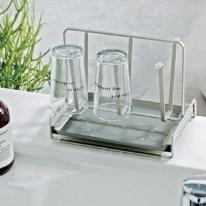 일본수입주방용품 물빠짐 컵건조대 컵걸이 주방정리 - 불소코팅 샴페인골드컬러