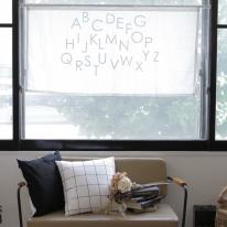[모모제작소] 알파벳 북유럽 화이트 블랭킷/가리개커튼 146x70