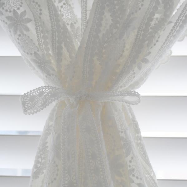 [모모제작소] 보니타 레이스 코튼자수 가리개커튼 124x118