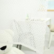 [모모제작소]눈꽃송이 레이스 코튼자수 가리개커튼 130x122
