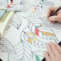 [모모제작소]DIY 스케치리프 캔버스 가리개커튼82x134
