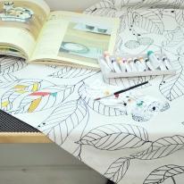 [모모제작소]DIY 스케치리프 캔버스 가리개커튼128x134