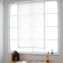 [모모제작소]튤립자수 북유럽 코튼 가리개커튼 83x140