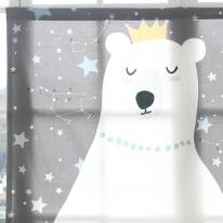 [모모제작소]꿈꾸는 곰 북유럽 코튼 가리개커튼 125x110