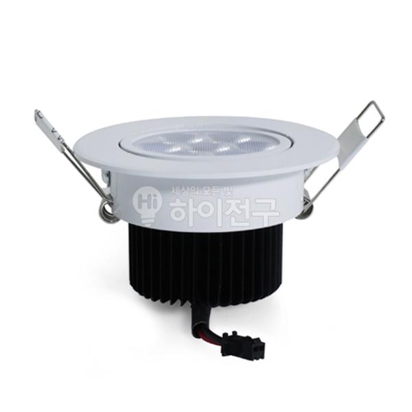 시그마 LED 회전 매입 등기구 7W 3인치 일체형 114434