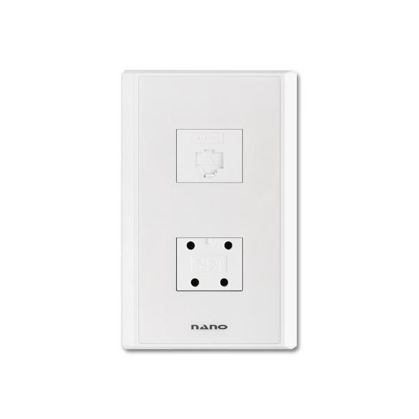 나노 복합모듈라8P+전화4P콘센트 118017