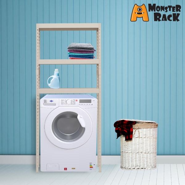 몬스터랙 세탁기선반 800x400x1800 3단 조립식앵글
