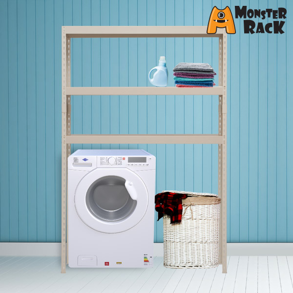 몬스터랙 세탁기선반 1200x400x1800 3단 조립식앵글