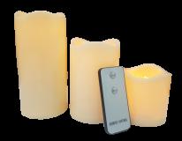[포라이트데코] LED 촛불 3종 세트 (리모컨, 건전지 포함)