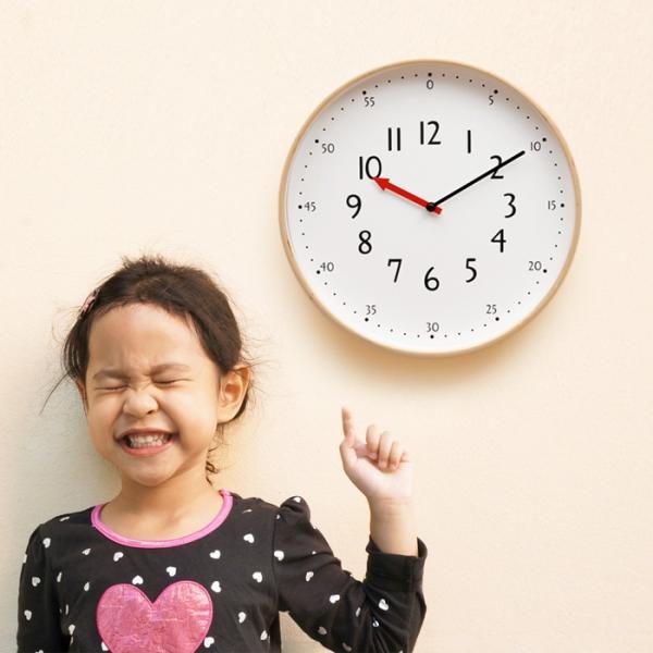 우드로하우스 저소음 교육용벽시계