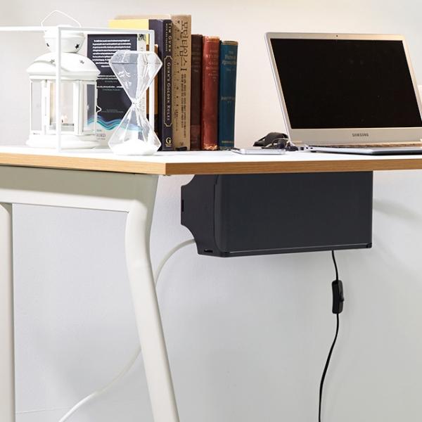 탭업 책상부착형 멀티탭 정리함