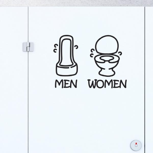 화장실 포인트 스티커 즐거운 화장실