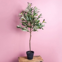 올리브 차콜 조화 나무 화분