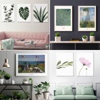 인테리어 식물 그림 액자 캔버스 6호