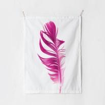 패브릭 포스터 태피스트리 가리개 커튼 핑크 페더