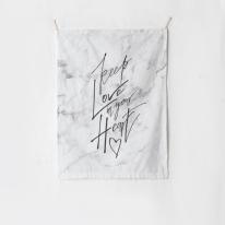 패브릭 포스터 태피스트리 가리개 커튼 킵 러브 인 유어 하트