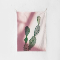 패브릭 포스터 태피스트리 가리개 커튼 캑투스 핑크 라이트
