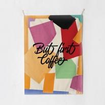 패브릭 포스터 태피스트리 가리개 커튼 벗 퍼스트 커피