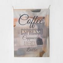 패브릭 포스터 태피스트리 가리개 커튼 커피메뉴