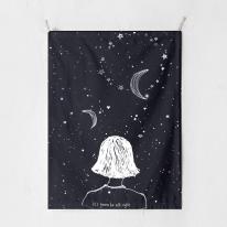 패브릭 포스터 태피스트리 가리개 커튼 잇츠거너비올라이트