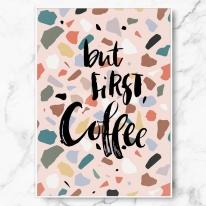 북유럽 인테리어 액자 포스터 캔버스 테라조 벗 퍼스트 커피