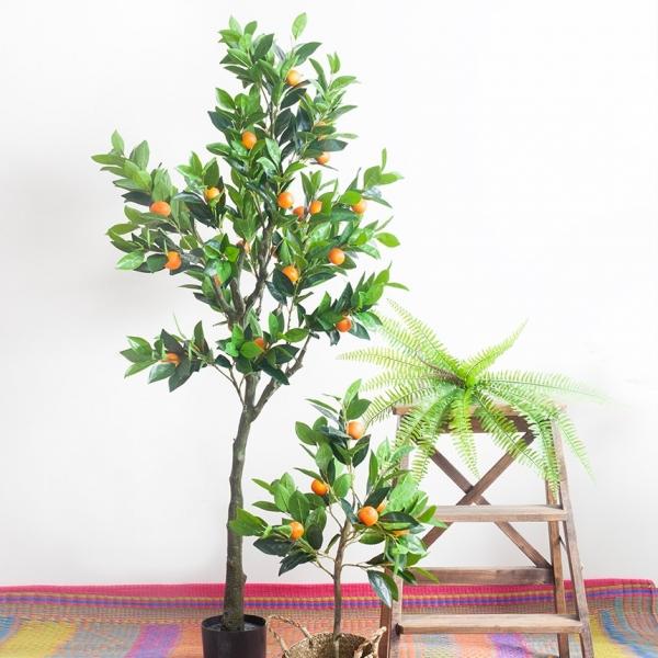 조화 오렌지 나무 소형