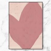 인테리어 명화 캔버스 액자 포스터 핑크 하트