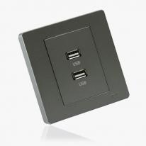 [우연티엔이] 유럽형콘센트 BS그레이/1구- USB 충전콘센트