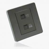 [우연티엔이] 유럽형콘센트 BS그레이/1구- 전화+인터넷콘센트