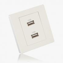 [우연티엔이] 유럽형콘센트 BS화이트/1구- USB 충전콘센트