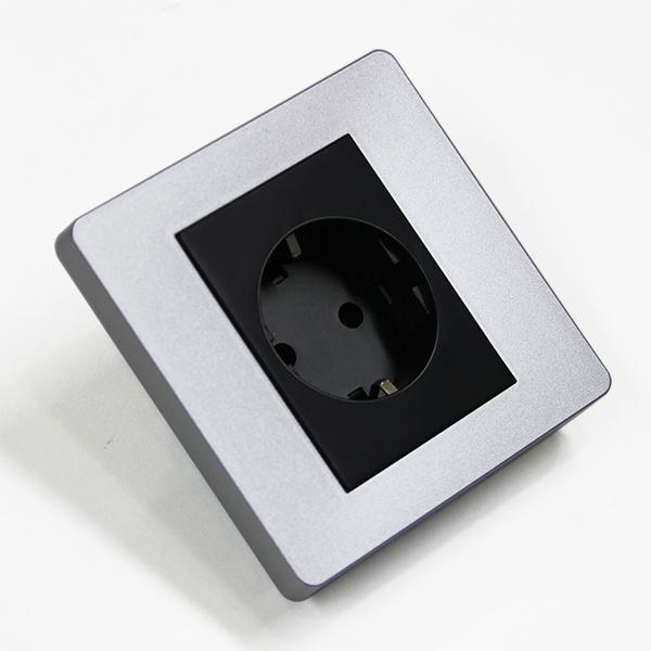 [우연티엔이] 유럽형콘센트 BS블랙/1구- 원형콘센트